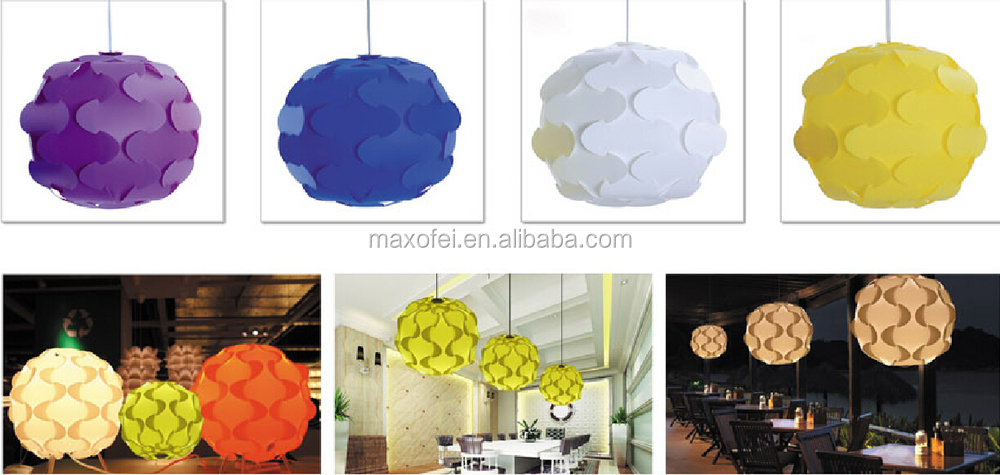 Customized Color Big Flower Ball Ceiling Lamp Decorative Modern ...