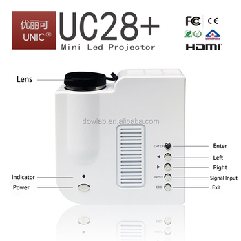 Cheapest!!!Factory UC28+ mini portable projector,entertainment projector, has one more HDMI than UC28 projector