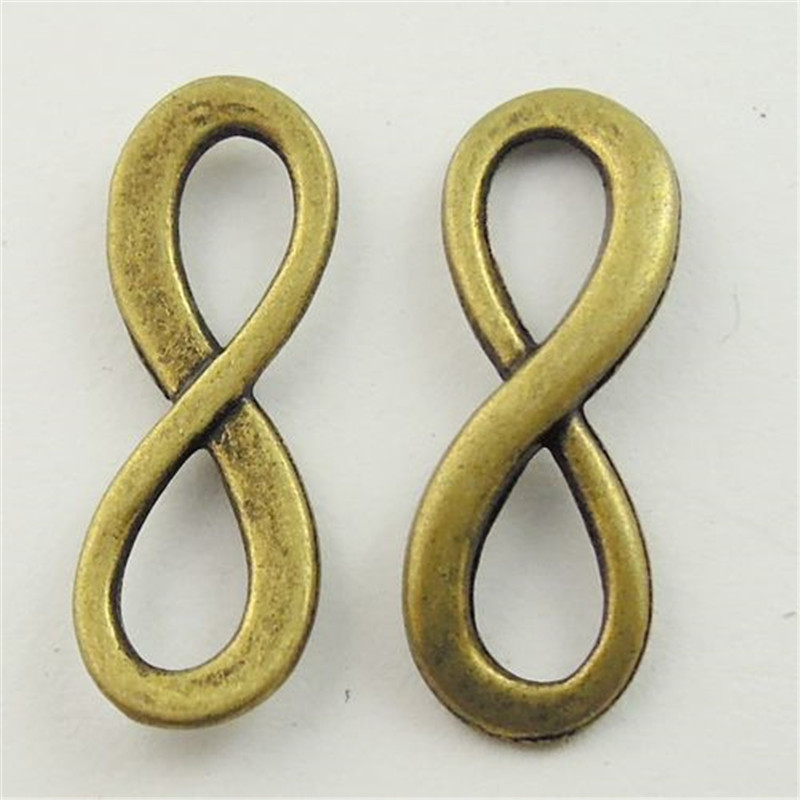 Vintage Style Antiqued Bronze Tone Alloy Number 8 Infinity Sign Charms Pendants 23*9*1mm 10pcs AU09161