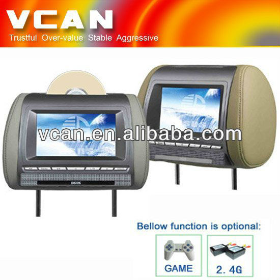 7 inch dvd lcd monitor with IR SD USB IPOD HAV-700D