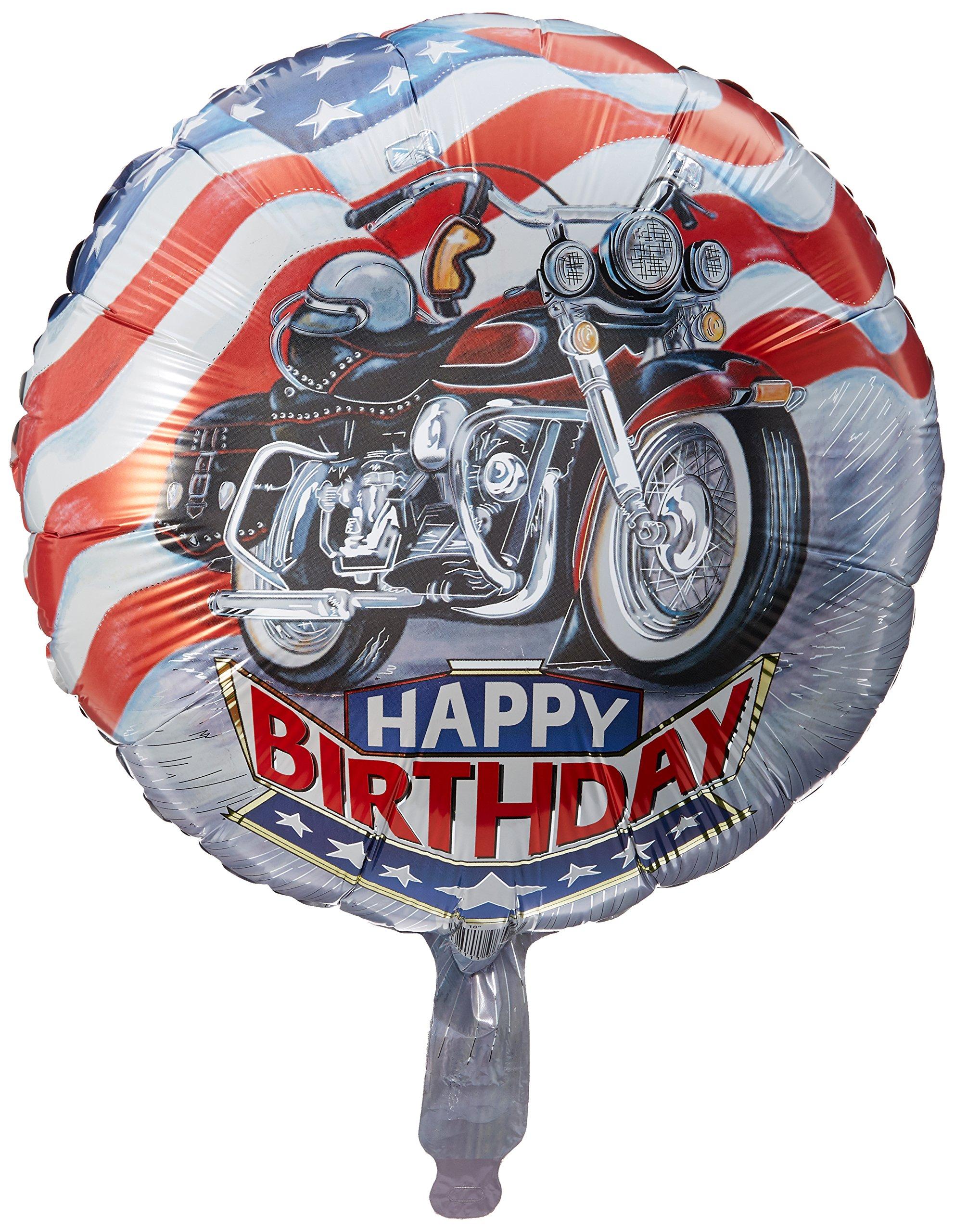 Harley Happy Birthday Mylar Balloon 18 Motorcycle