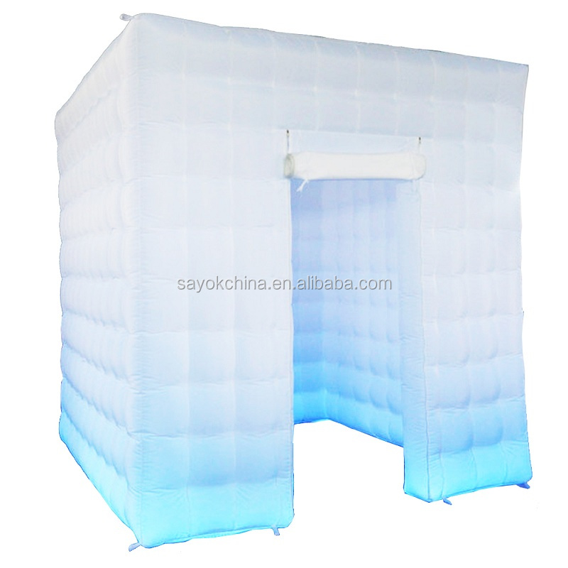 factory sale free shipping 8ft wedding party portable led inflatable photo booth for sale