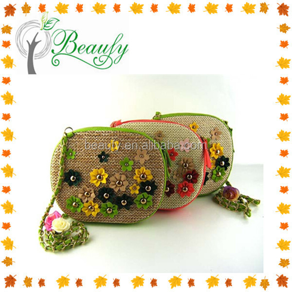 High Quality Round PP Straw Beach Shoulder Bag