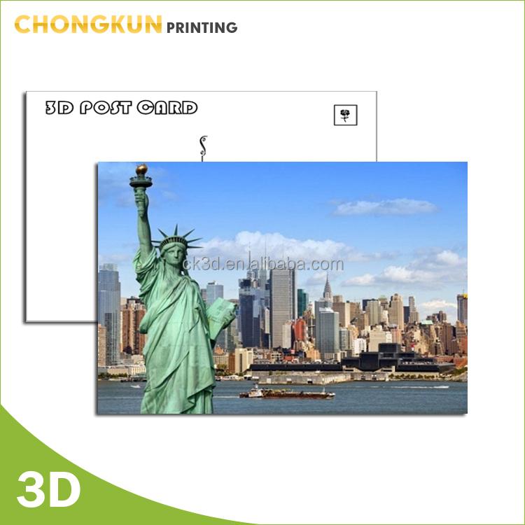 Manufacturer price offset printing 3D business card 100lpi lenticular card
