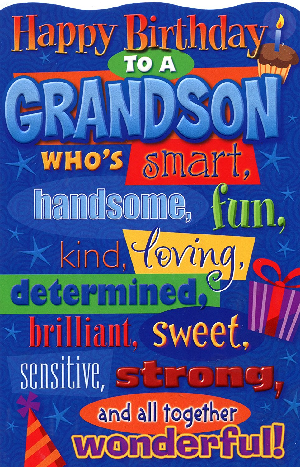 Buy Happy Birthday Grandson Birthday Greetings Card In Cheap Price