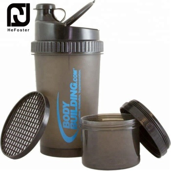 700 ML BPA free two-layers protein shaker water bottle