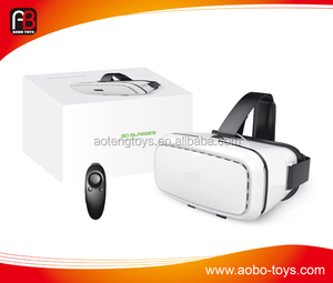Hot Sale VR BOX Virtual 3D Glasses +black wireless bluetooth remote