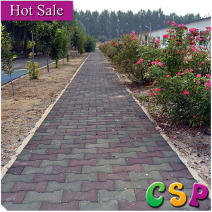Strong recycled rubber driveway tiles for outdoor use