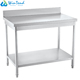 Hotel buffet stainless steel adjustable work table with backplash