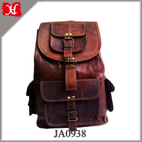 Leather Backpack Travel rucksack knapsack daypack College Bag for men women