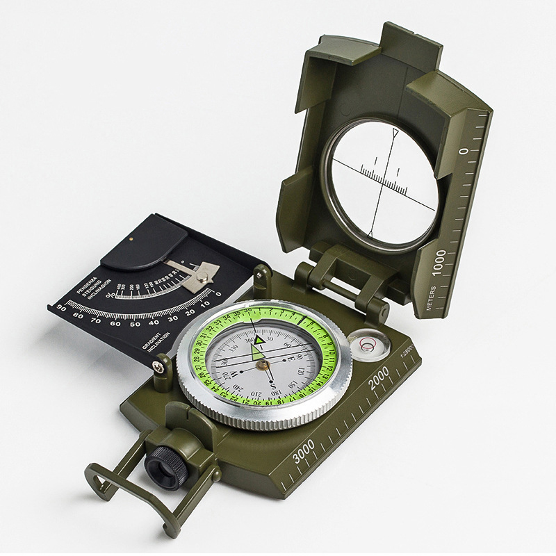 (High) 저 (-끝 American compass compass 와 scale/level//사면 meter/luminous/확대 (gorilla glass)