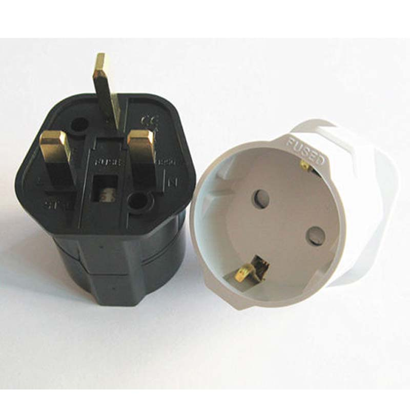 Schuko European to UK 250V 13A grounded plug adapter universal uk plug