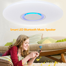 24w Surface Mounted Smart LED Lights Phone App Control Colors Change Lighting With Bluetooth Speaker Smart Home Illumination