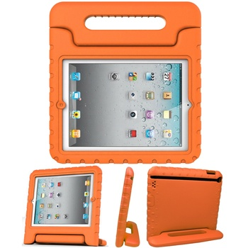 KidBox EVA case for ipad with convertible stand, EVA rubber foam shockproof kids Handle carrying case for Apple ipad tablet