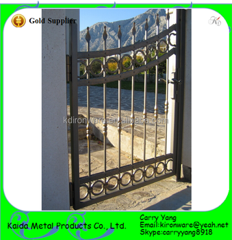 Chinese Manufacturer Wrought Iron Simple Metal Garden Gates