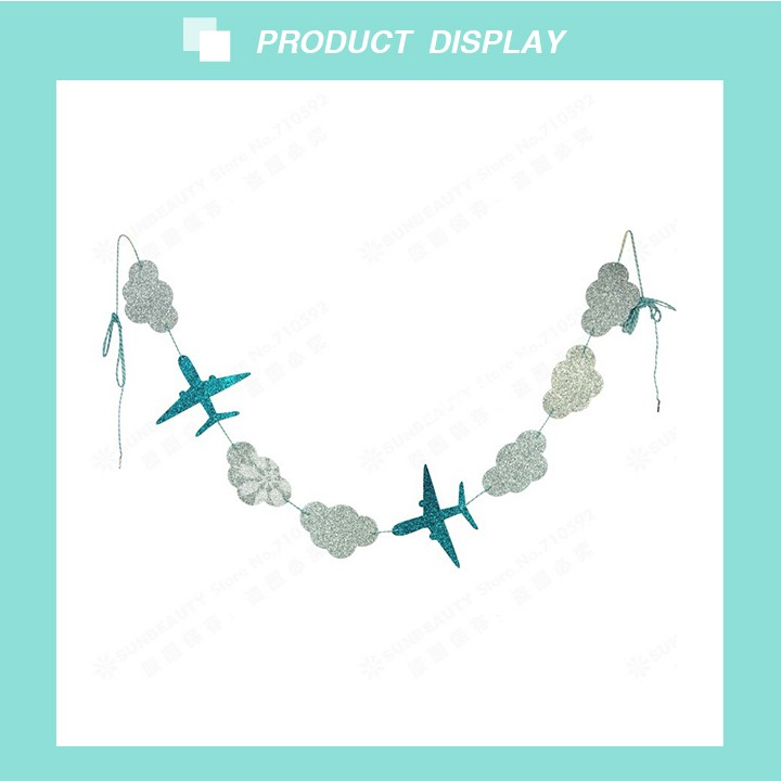 2017 Wholesale Sunbeauty Clouds and Airplane Paper Garland