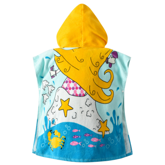 Promotional Hooded Children / Baby / Kids Cotton Bathrobe / Pajama / Nightwear / Printed Bath Towel