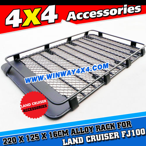 Black Oem Powder Coated Aluminium Roof Cage Roof Rack For Land ...