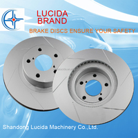 Safety and reliability drilled and slotted car parts dics brake