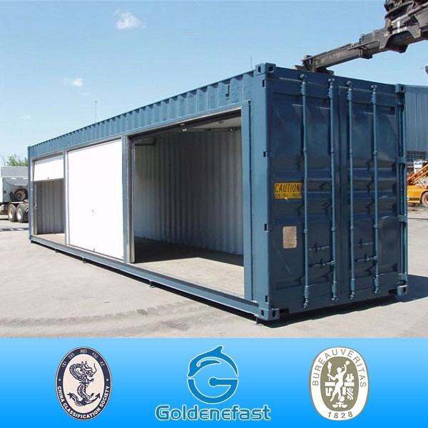 20ft shipping container garage with roller shutter door for Dimension box garage