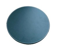 PU leather round mouse pad