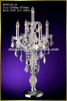 Cheap Crystal Chandelier Table Lamp For Wedding
