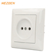 Made in china safety eu style 82*92mm house using wall socket 230v 16a white oem abs panel socket outlet
