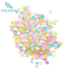 High quality wedding colorful tissue paper round party confetti for confetti cannon