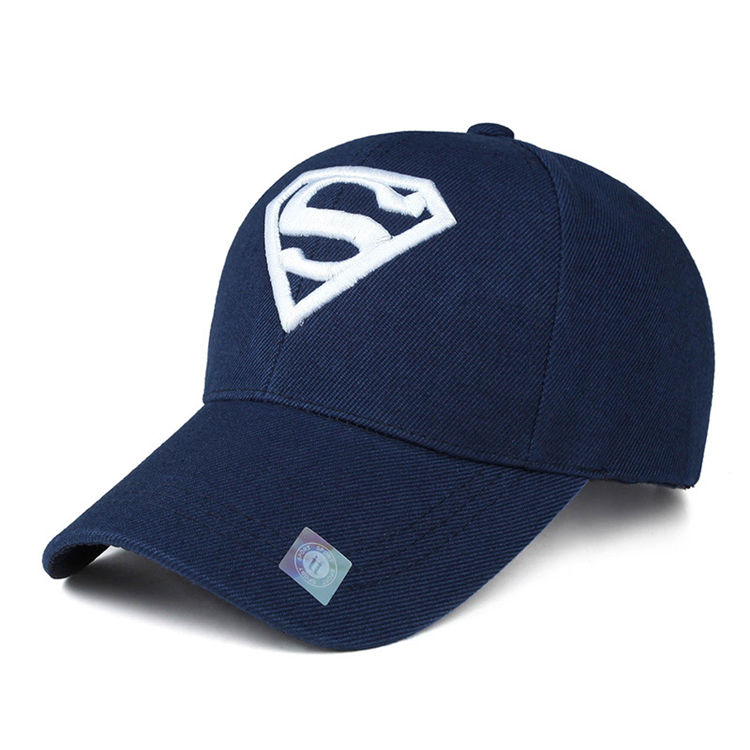 Wholesale spring and autumn outdoor korean leisure sports superman peaked <strong>cap</strong> embroidery cheap baseball <strong>caps</strong>