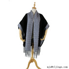 Fashion design cloth Long Thick Cable Cold Winter Warm Scarf Soft Knitted shawl with big pocket