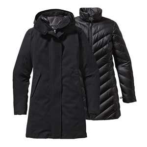 Newest style womens comfortable 3 in 1 jacket- insulated,windproof full length winter down parka coat