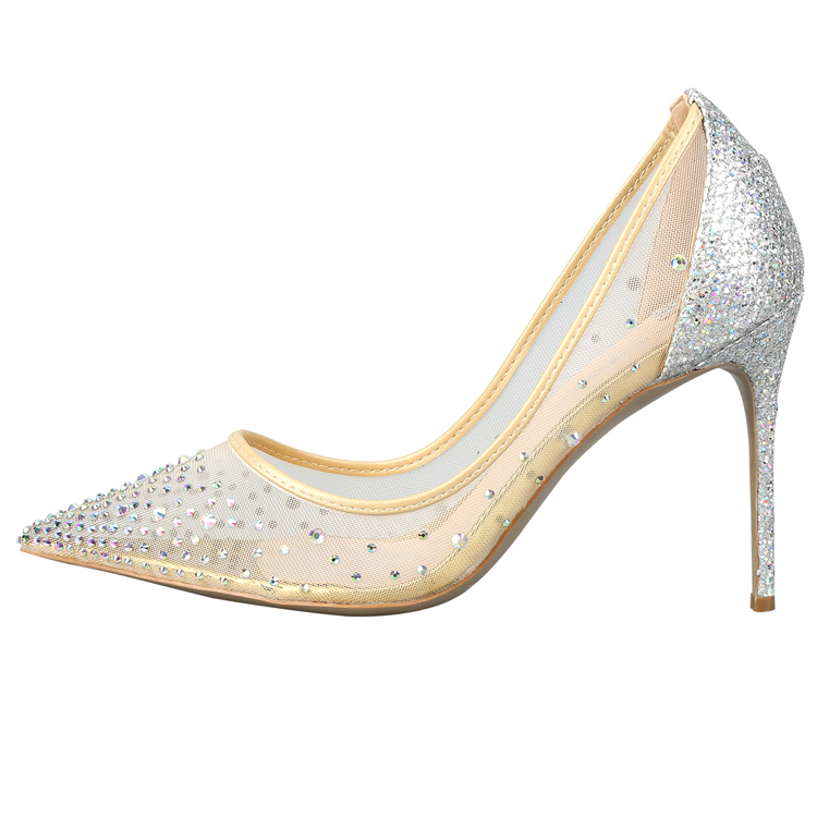 Genuine leather Italian luxury shoes brands crystal wedding party women high <strong>heels</strong>