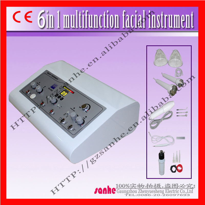 Ultrasonic ,Vacuum, Spray ,High Frequency,Spot Remover and Breast care ,skin care beauty machine