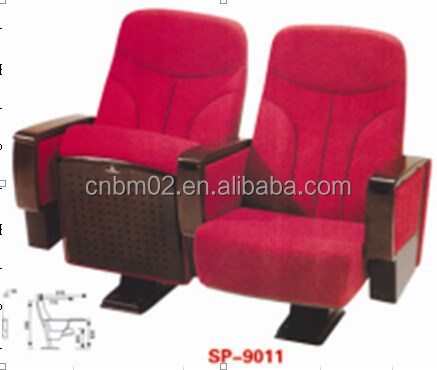 Factory Price Cinema Chair/Theatre Chair/Auditorium Chairs with Table Pad