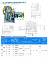Elevator VVVF geared motor traction machine