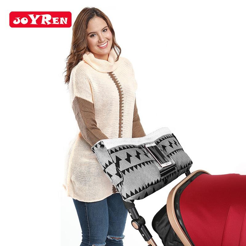 New Arrival Winter Grey Cotton Spunlace Baby Stroller Hand Warmer