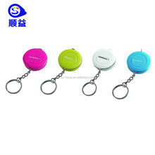 Colorful mini precise seamstress weight loss anthropometric measuring tape keyring gift tape measure