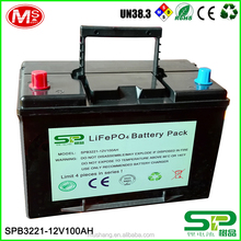 12V LiFePO4 battery 100Ah battery pack for inverter and UPS