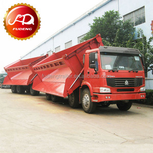 Side tipper links 34 tons trailer / Superlink dump trailer for transport coal and chrome