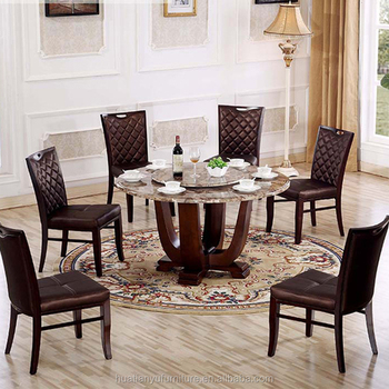 Merveilleux Cheap Royal Design Sectional Marble Dining Table And 6 Chairs Set