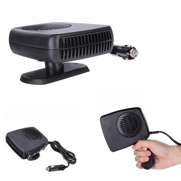 2 в 1 горячей и холодной 12 В авто портативный керамический нагреватель отопление вентилятор охлаждения стекол черный