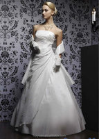 white satin lace ball gown best bridal wedding dresses