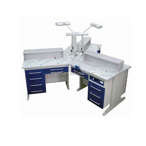 Dental Lab Technician Bench for 3 person dental laboratory furniture