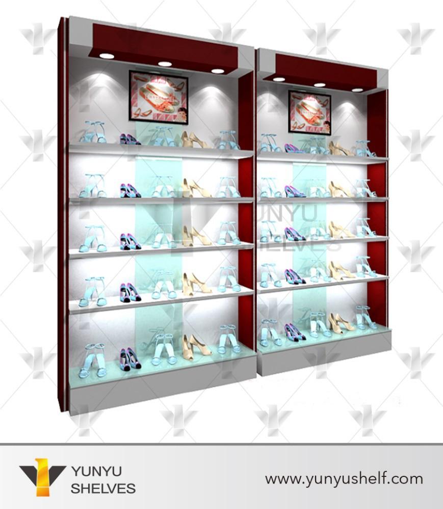 Nuevo dise o de muebles para tienda de ropa y calzado con for Muebles para colocar zapatos