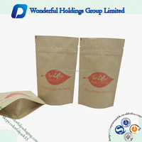 customized tea packaging bag aluminum foil pouch resealable kraft paper bag with your own logo