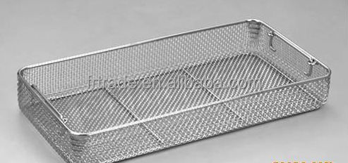 Medical Instruments Tray /stainless Steel Wire Mesh Basket
