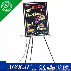 Alibaba hot selling led writing board for advertising led menu cover