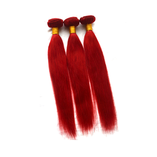 2017 new hair styles full cuticle 3 bundles red brazilian hair weave