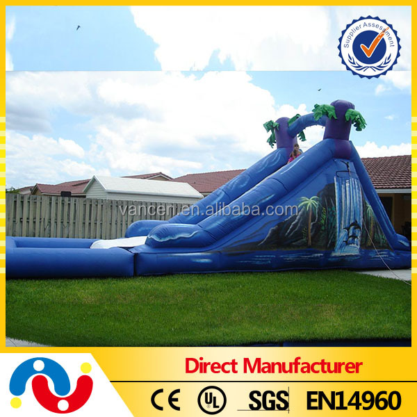 Hot sale giant 0.55mm PVC tarpaulin inflatable water slide, inflatable hippo water slide for sale