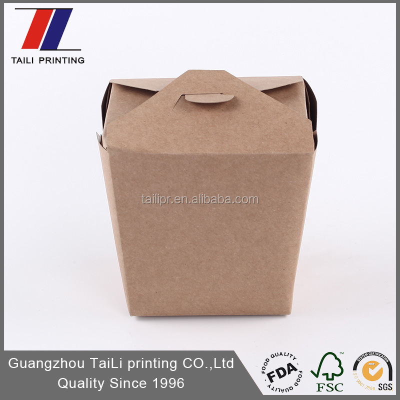 Chinese take out food packaging box
